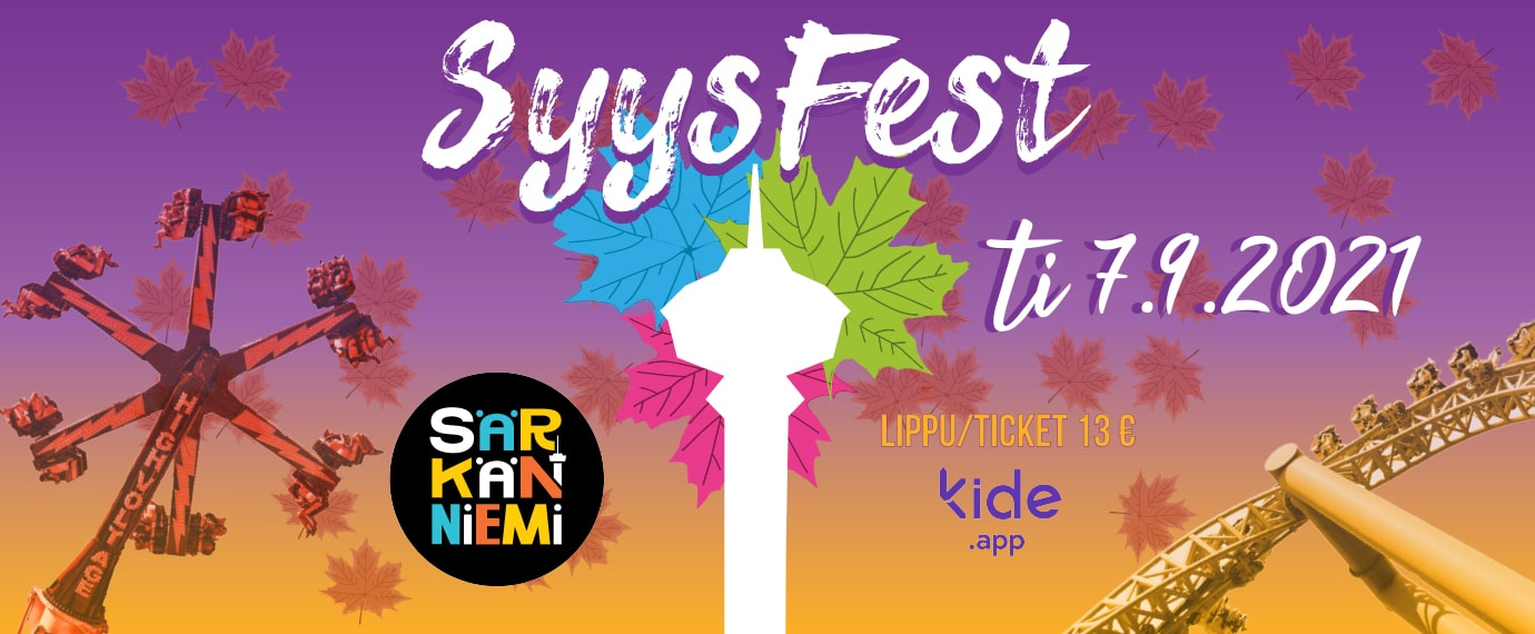 SyysFest student event in Särkänniemi on Tuesday 7.9.2021