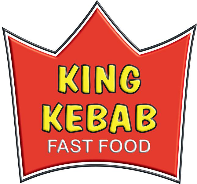KING KEBAB fast food logo